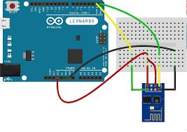 esp8266 attached to an arduino leonardo