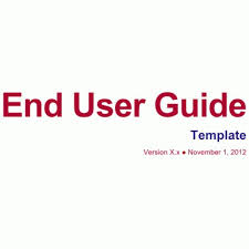 end user documentation template user guide template download ms