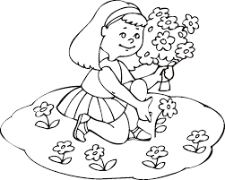coloring pages of summer fun with flowers for girls 2014