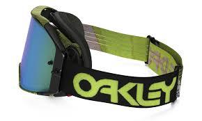 oakley motocross goggles oakley airbrake mx goggle thumbprint green jade iridium lens