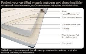 organic flannel mattress pad lifekind