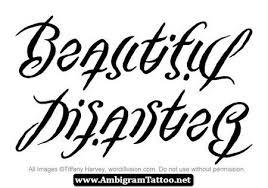 disaster ambigram tattoos 02 http ambigramtattoo net disaster