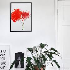 decorative artwork for homes 2018 minimalist nordic decorative painting red flowers home