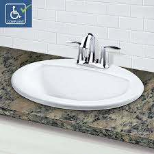 Bathroom Sink Set Decolav 1436 4 Cwh Drop In Oval Vitreous China Bathroom Sink
