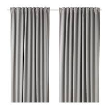 Heat Repellent Curtains Majgull Blackout Curtains 1 Pair Gray Room Darkening Curtains