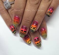 bornprettystore com review tribal safari aztec inspired nail art