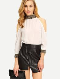 high neck blouses for women us shein sheinside