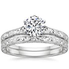 hudson wedding band 18k white gold hudson matched ring from brilliant earth which is
