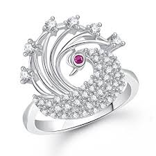 girls rings silver images Buy meenaz silver diamond rings for girls and women in american jpg
