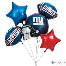 deliver balloons nyc new york giants mylar balloons
