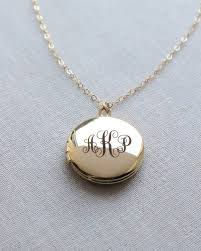 monogrammed locket engraved monogram 3 4 inch locket necklace by olive yew a
