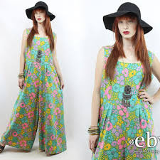 hippie jumpsuit vintage 70s wide leg jumpsuit xl 1x plus from everybody s buying