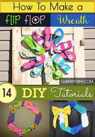 flip flop wreath how to make a flip flop wreath 14 diy tutorials guide patterns
