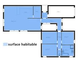 surface habitable minimum d une chambre surface habitable d une maison plan traditionnelle 3 chambre etage