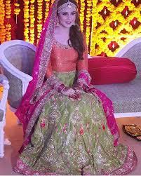 pink colour combination dresses 25 best mehndi dresses for pakistani brides 2017 2018 folder