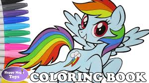 mlp rainbow dash coloring book pages my little pony dashie