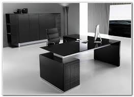 Modern Glass Top Desk Modern Glass Desk Office Home Design Inside Executive Plan