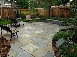 Home Depot Concrete Patio Blocks by Cobbled Edge Patio Created With Natural Cleft Pattern Pavers Brick