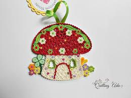 christmas ornament quilled mushroom house u2013 mushroom ornament