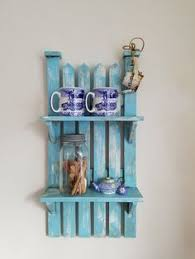 Upcycled Home Decor Vintage Wood Shabby Chic Farmhouse Cottage Distressed White 3 Tier