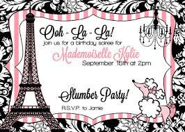 paris birthday invitations kawaiitheo com