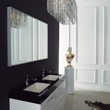 lusso stone bellagio double designer bathroom wall mounted vanity