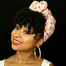 simple hair bandana for covering patch of bald head for ladies 75 most inspiring natural hairstyles for short hair bandanas