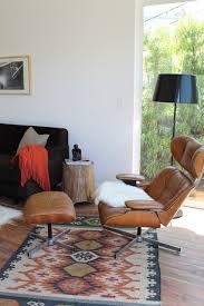 Modern Kilim Rugs Eames Era Plycraft Lounge Chair And Kilim Rug Modern Living