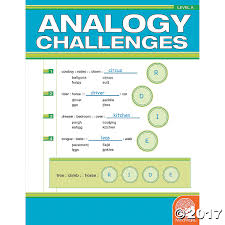 Analogy Practice Worksheets Analogy Challenges Level A Oriental Trading Discontinued
