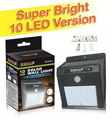 Dusk To Dawn Motion Sensor Outdoor Lighting Equinox International 10 Led Motion Sensor Solar Light Dusk To