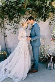 blush wedding dress with sleeves 35 gorgeous sleeve wedding dresses happywedd