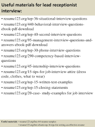 Receptionist Resumes Resume Examples For Receptionist Jobs Receptionist Resume Samples
