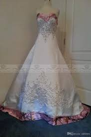 designer pink camo wedding dresses real images custom made plus