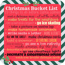 christmas bucket list today u0027s the best day
