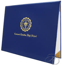 graduation diploma covers padded diploma cover 8 5 x 11 soli deo gloria crest design