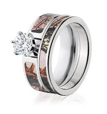 pink camo wedding rings mossy oak pink camo ring set for camo after