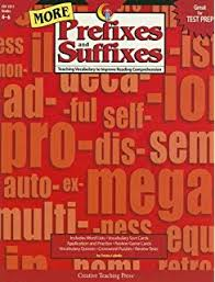 the learning works prefixes and suffixes grades 4 8 teaching
