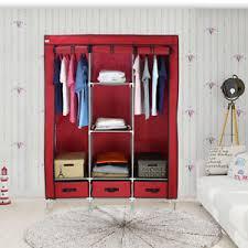 chambre de garde 3 portes garde robe vêtements armoire penderie meuble rangement