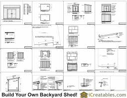 8x12 lean to shed plans storage shed plans icreatables com