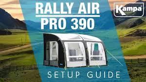 390 Awning Kampa Rally Air Pro Awning Setup Guide Youtube