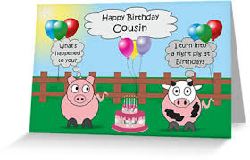 funny animals cousin birthday hilarious rudy pig u0026 moody cow