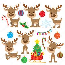 imagenes animadas de renos de navidad renos de navidad vector ilustración de dibujos animados vector de