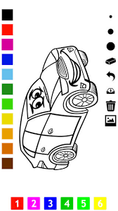coloring book cars children learn color racing car