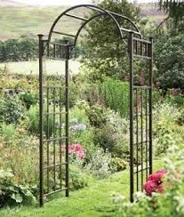 how to build an archway trellis metal garden arch trellis foter