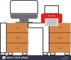 Schreibtisch Mit Computer Computer Desktop Silhouette Workplace Icon Stockfotos U0026 Computer