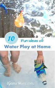 10 activities of water play at home