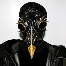 real plague doctor mask geanbaye hallowmas scary real pu and metal accessories