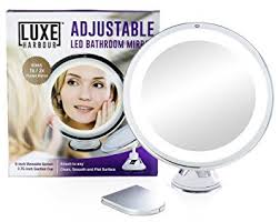 sanheshun 7x magnifying lighted travel makeup mirror amazon com luxe harbour lighted makeup mirror 7x magnification