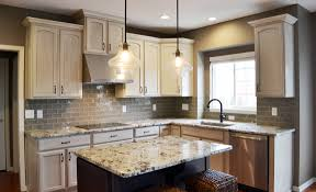 granite countertop kitchen cabinets inside design metal murals