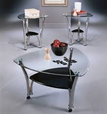 glass end table set 10 best ideas of triangular glass coffee tables